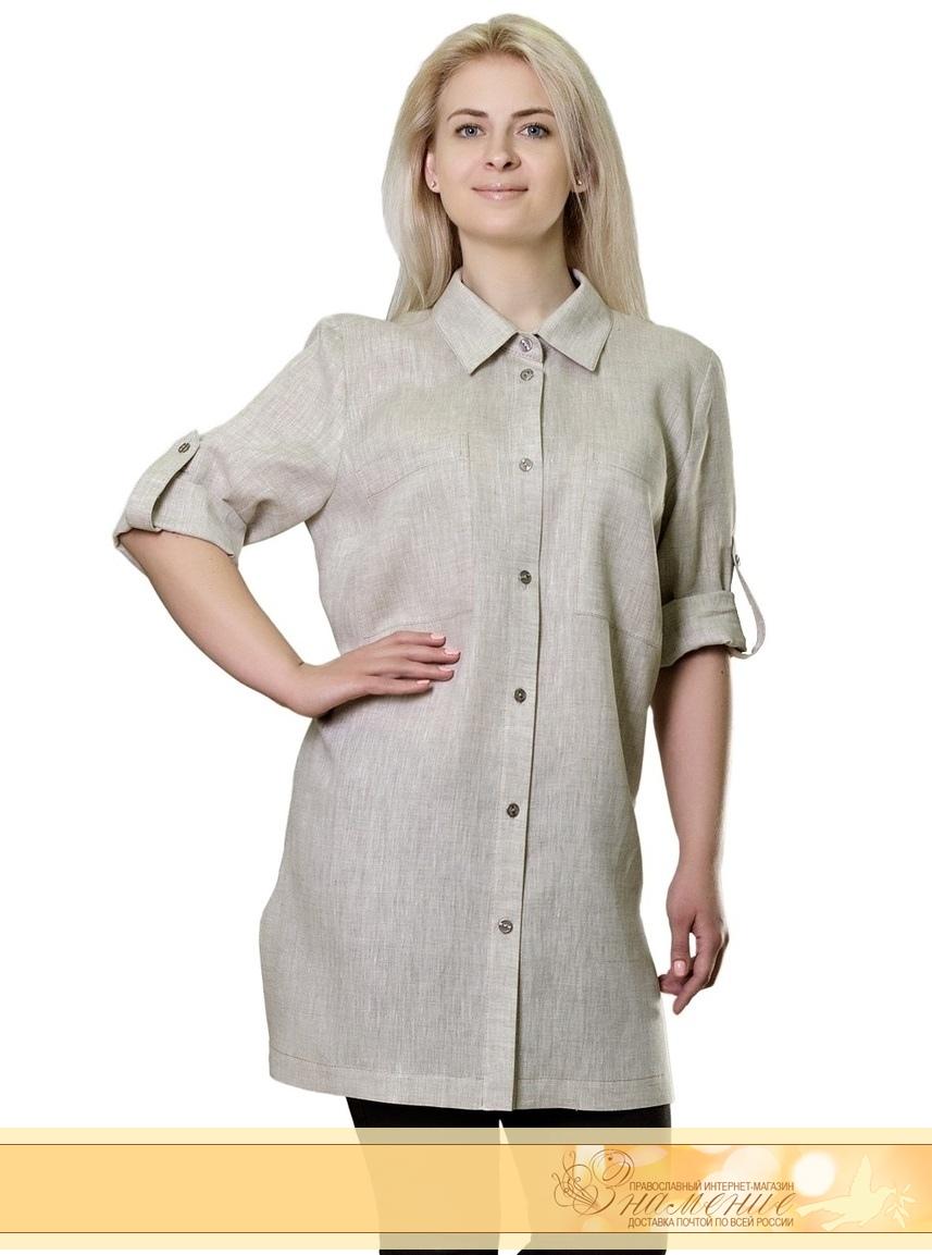 dc6da424273 Купить Блуза-рубашка женская удлиненая